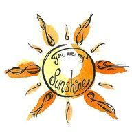 You Are My Sunshine Tattoo | yellow no red or orange as it's the sun not flames - a bit of a twist vs straight beams
