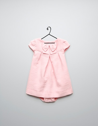 structure dress with bow - Collection - Mini (0-9 months) - Kids - ZARA United Kingdom
