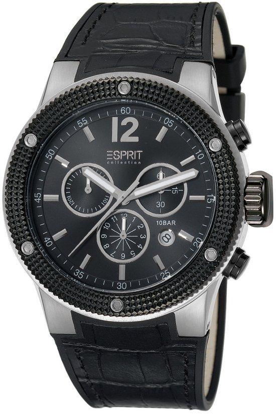 Esprit Collection -  Anteros Night - EL101281F01 - Horloge - 45 mm - Zwart