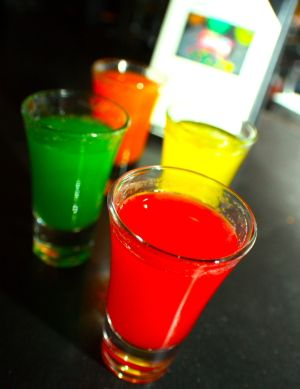 Skittles Shots at Tap42: A colorful drink idea for any party