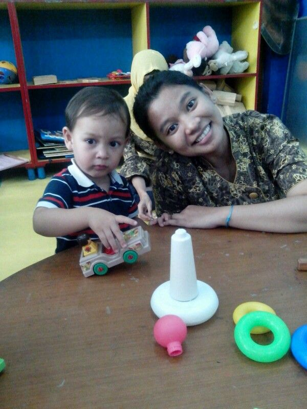 With baby Raphael when area time..