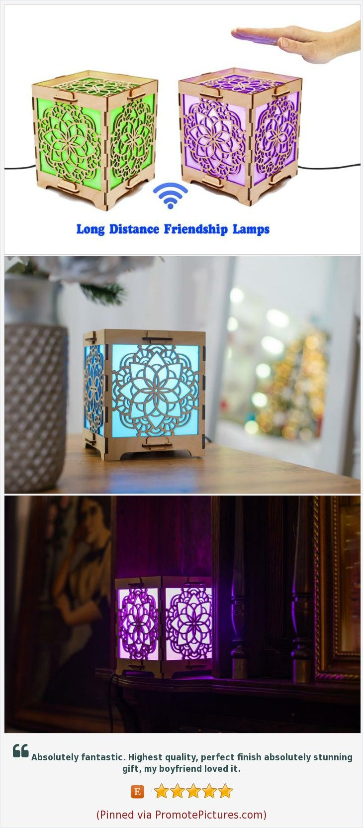 Long Distance Friendship Lamp Set Of Two Etsy In 2020 Friendship Lamps Presents For Best Friends Moving Away Gifts