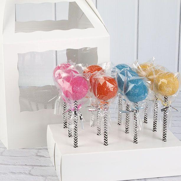 Cake Pop Boxes for Paper Straws. #packaging #chevron #rainbow #cakepops #brpboxshop #cakepopstand