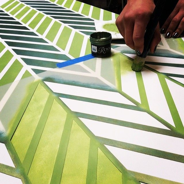 How To Stencil Furniture Paint