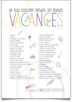 liste d'activité vacances