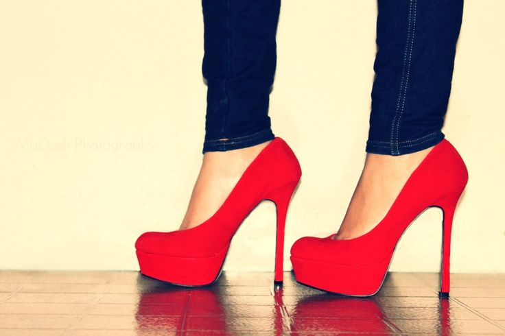 Image detail for -heels, high heels, jeans, legs, red - inspiring picture on Favim.com
