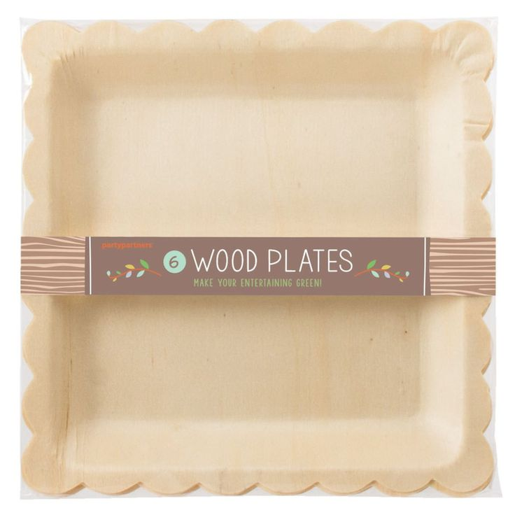 birch wood scalloped disposable plates