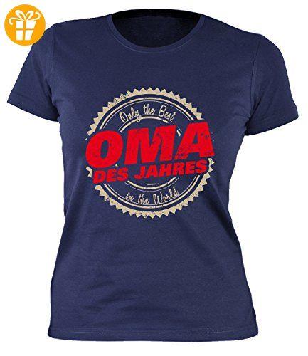 Oma Sprüche Damenshirt - lustige Sprüche Großmutter : Only the Best in the World Oma des Jahres -- Damen Tshirt Geburtstag / Muttertag Großmutter Gr: L (*Partner-Link)