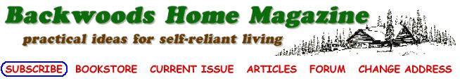The complete printable index of all articles published in Backwoods Home Magazine from Issue #1 to #140 is available free in PDF format.