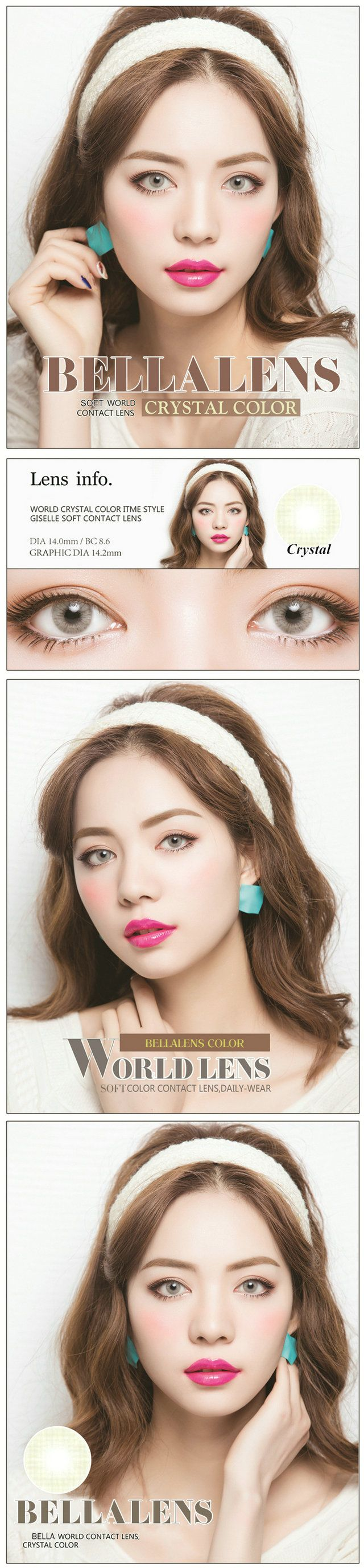 Color contact lenses online shop - 14 20mm Bella Aurora Contact Lens Color Crystal Gray 16 99 Contactlensdropshipping Com