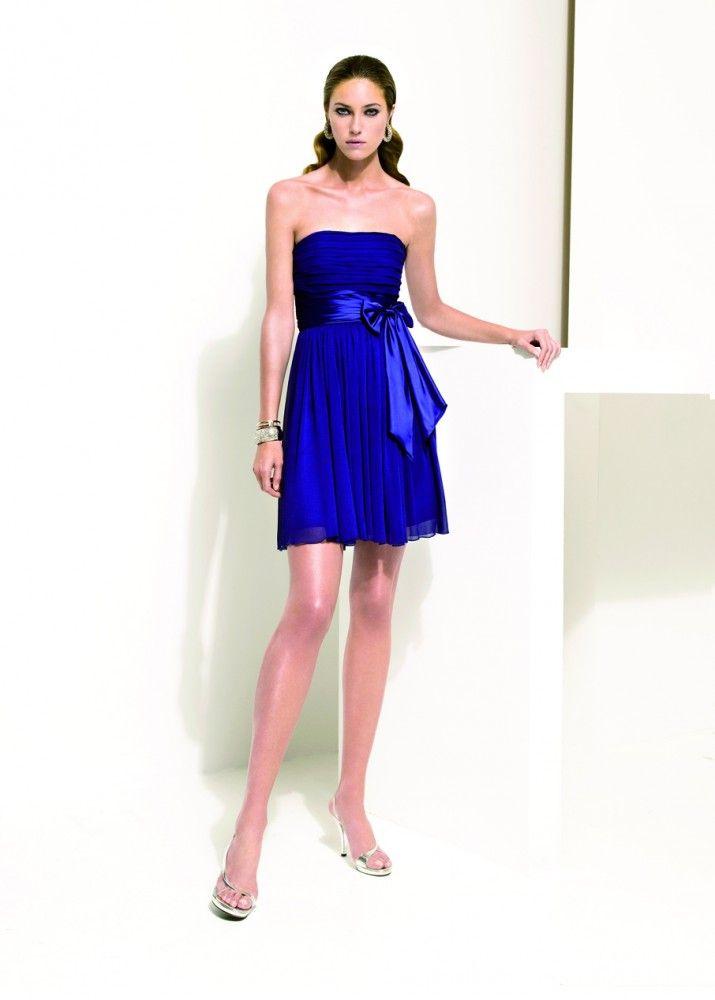 Robe bustier bleu tiffany