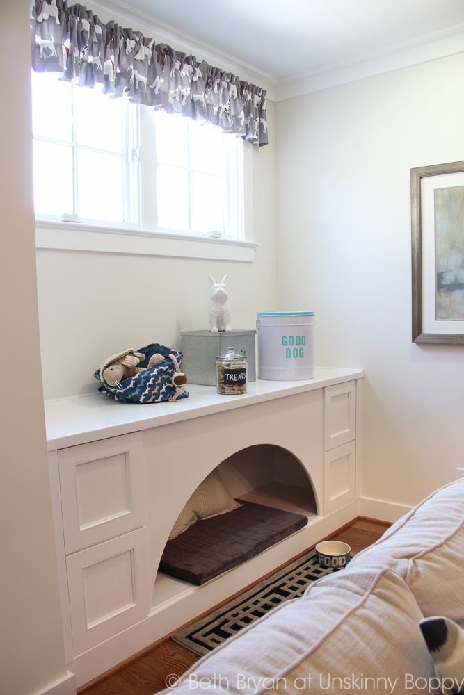 Doggie hideaway built into the wall. Birmingham Parade of Homes Decor Ideas