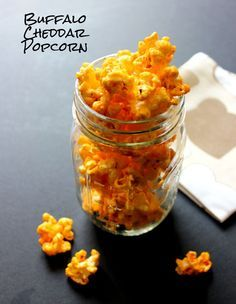 Flavored Popcorn Recipes - buffalo cheddar. Yes, please. Thank you. Don't mind if I do. Plus Chili Lime, and Salted Oreo