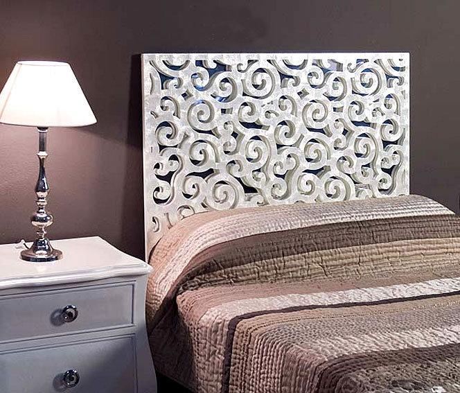 cabecero de ncar volutas blanco ancho muebles de diseo cabeceros y camas de diseo