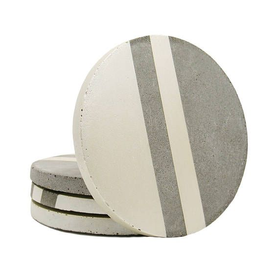 Concrete coasters round coasters stone coasters cement for How to make concrete coasters