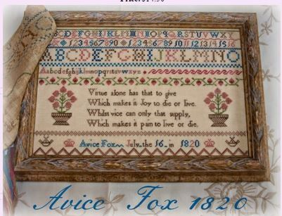 Vintage Cross Stitch Sampler