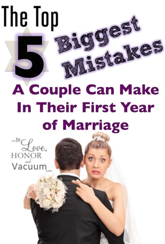 Don't make these 5 Big Marriage Mistakes! Some mistakes are obvious--but some are more subtle. They're small habits that become poison later: http://tolovehonorandvacuum.com/2016/03/5-biggest-marriage-mistakes-first-year-of-marriage/?utm_campaign=coschedule&utm_source=pinterest&utm_medium=Sheila%20Wray%20Gregoire&utm_content=5%20Biggest%20Mistakes%20A%20Couple%20Can%20Make%20in%20the%20First%20Year%20of%20Marriage