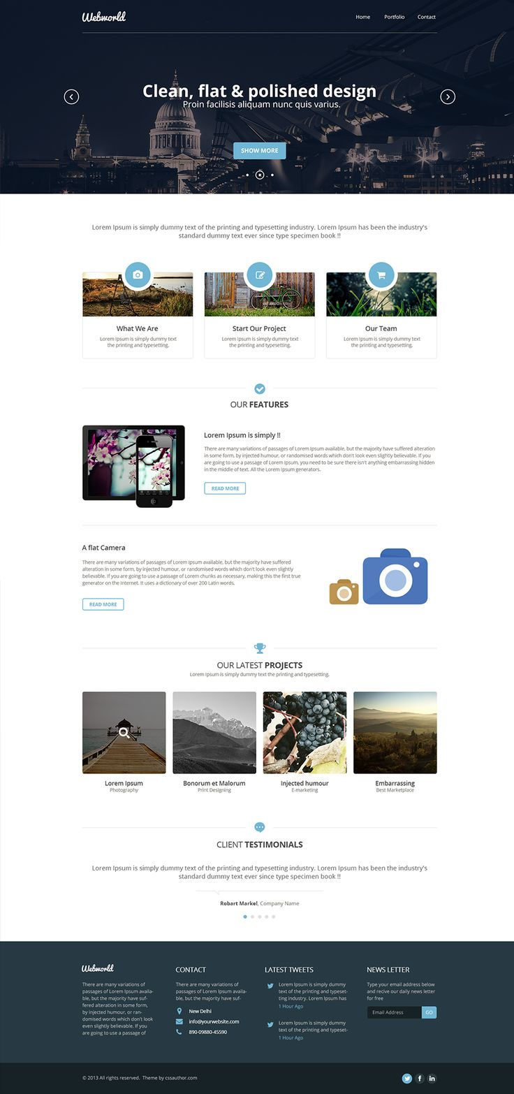 professional free corporate web design template webby