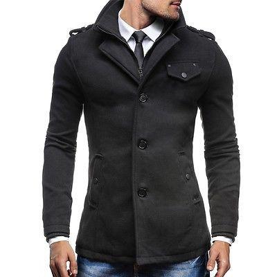 BOLF PPM 8853 Cappotto Giubbotto Invernale caldo uomo TOP 4D4 Nero