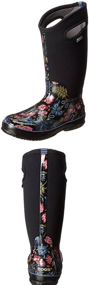 Bogs Womens Classic Tall Winter Blooms Waterproof Insulated Boot: Love these boots!! Put off getting them far too long. they are worth te expense for an outdoor preschool teacher like me. So comfortable and even as a half size big perfect with thicker socks for warm feet on a chilly fall day. #Bogs #RainFootwearforWomen