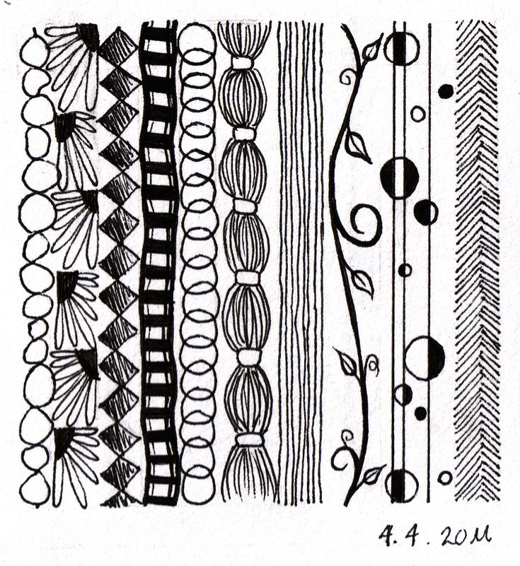 Not technically a Zentangle, but some great ideas for lines.