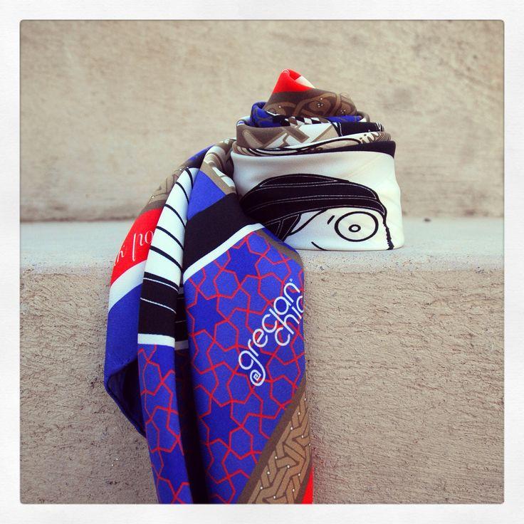 """""""Grecian in Constantinople"""" silk scarf by Grecian Chic!"""