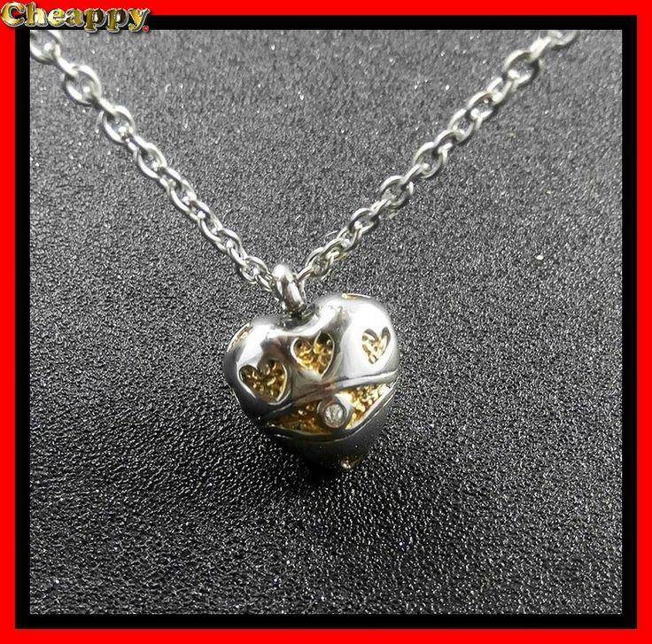 Mooie As hanger, As urn in de vorm van een hart met goudkleur