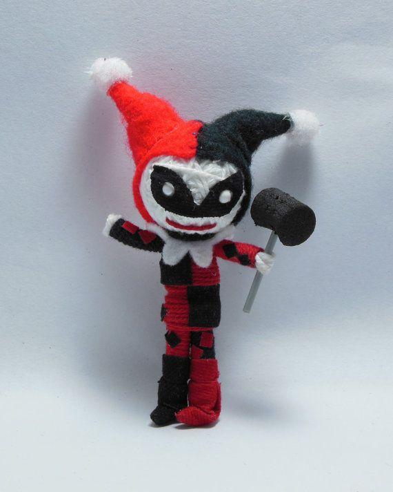 Harley Quinn String doll Voodoo doll keychain new by narakdoll, $7.99  Super cute