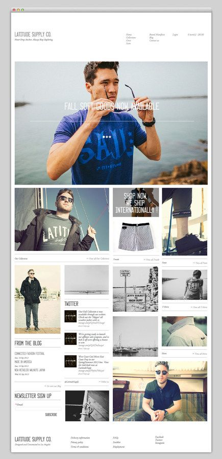 Web / Latitude Supply Co. — Designspiration
