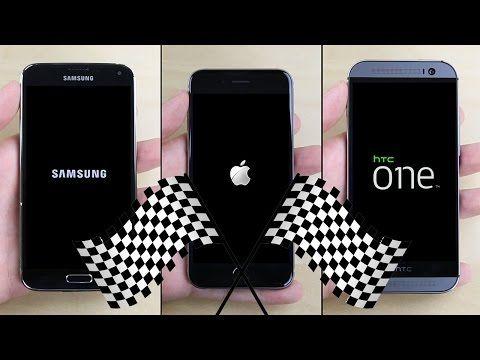 iPhone 6 VS. Galaxy S5 VS. HTC One M8 In Speed Test http://www.ubergizmo.com/2014/10/iphone-6-vs-galaxy-s5-vs-htc-one-m8-in-speed-test/