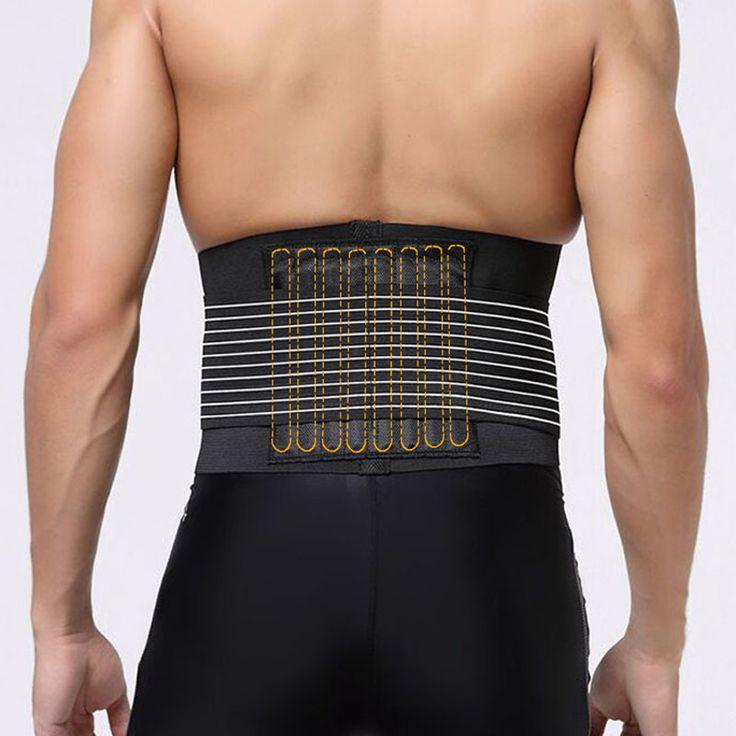 Nueva promoción sport accesorios Back Support Brace cinturón Lumbar de la cintura doble ajuste Back Pain Relief ayuda de la cintura H1E1