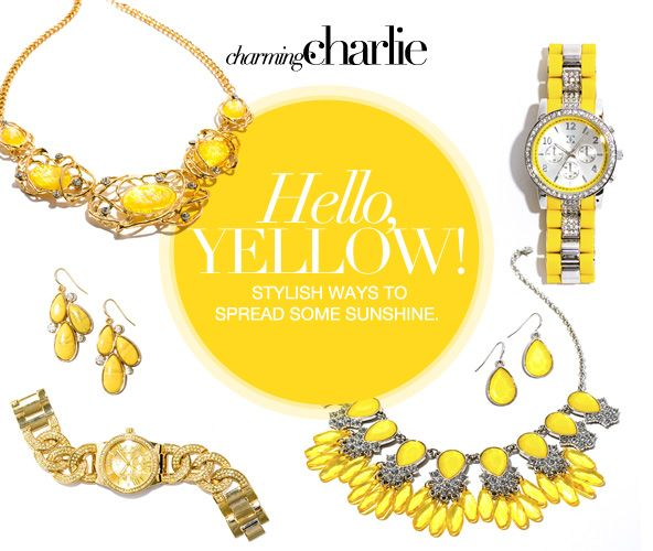 Have a sunny disposition with our June color of the month -- Yellow!
