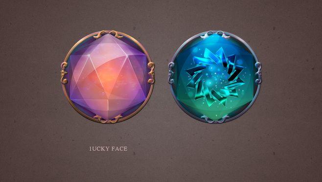 原创作品:游戏UI 魔法石 水晶 按钮 ...