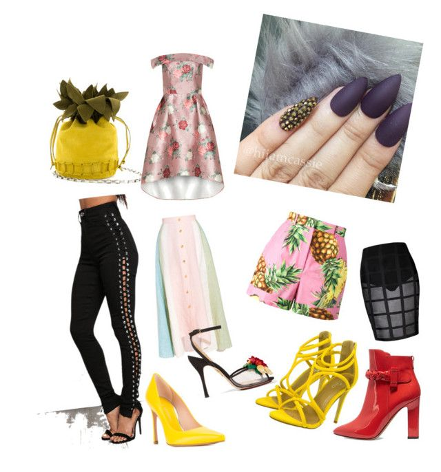 """""""NEVER EVER"""" by wisacb on Polyvore featuring Dolce&Gabbana, Peter Pilotto, Stuart Weitzman, Charlotte Olympia and Valentino"""