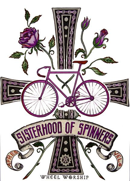 love the art work - and bicycle worship.