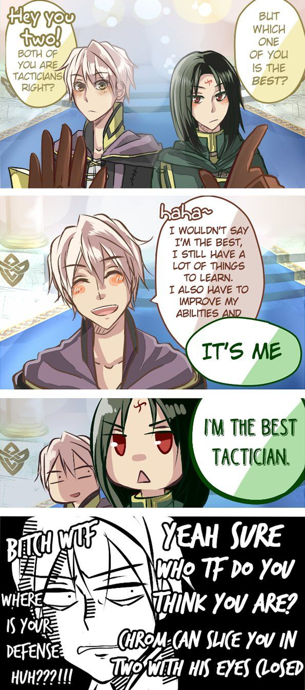 "Heh, Robin, you got some ego issues there ""Fire Emblem Heroes - Whos the best tactician by Kaprikume"""