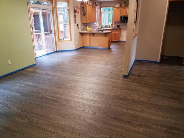 2 1/4 Red Oak Hardwood, Stained with Bona Drifast