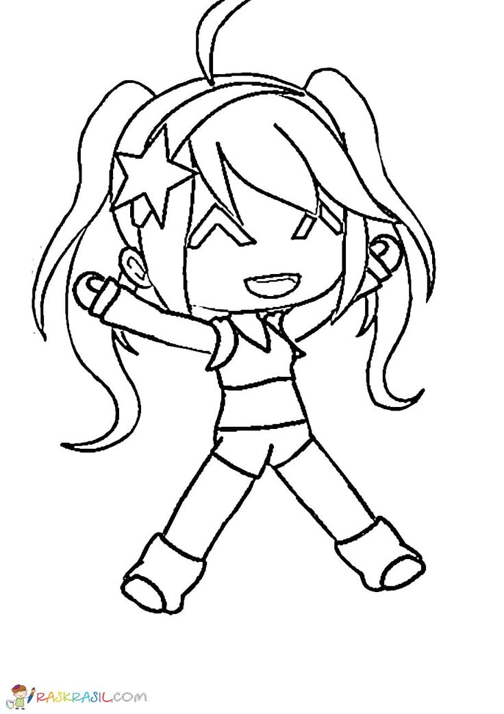 17+ Coloring pages of gacha life characters ideas in 2021