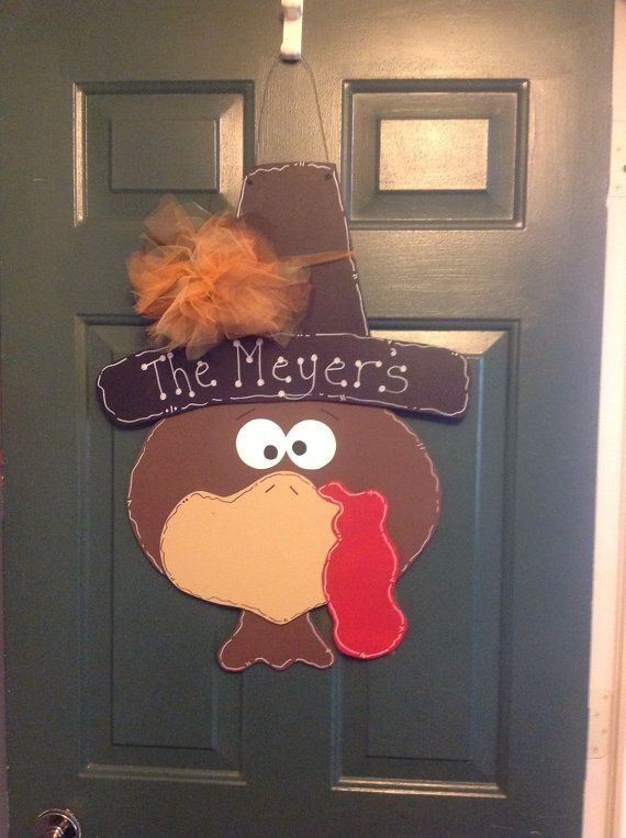 Exceptional Thanksgiving Door Hanger, Would Love One With The Body And Tail Feathers