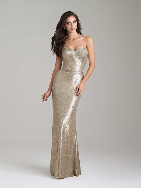 Bridesmaid Dresses Available at Ella Park Bridal | Newburgh, IN | 812.853.1800 | Allure Bridesmaids - Style 1471 Shimmer Knit