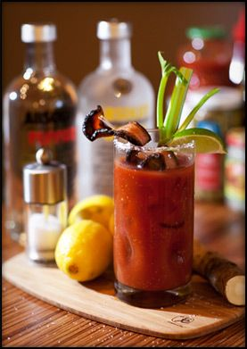 bacon bloody time!  did you say bacon-infused vodka?  oh, yeah!
