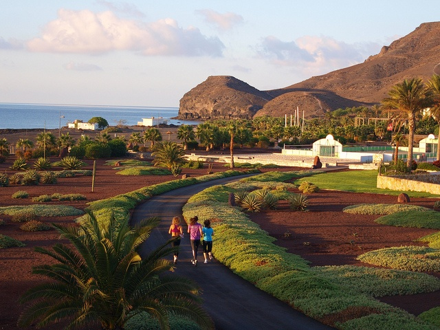 Hidden on the coast of one of the Canary Islands off the western coast of Africa, the Playitas running trails boast stunning views of nearby mountains and the Atlantic Ocean.