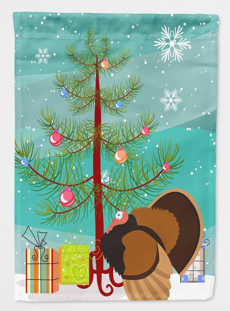 Bronze Turkey Christmas Flag Canvas House Size BB9353CHF