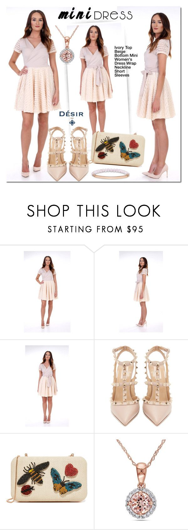Desir Vale Ivory Dress by mada-malureanu on Polyvore featuring Valentino, Alice + Olivia, Miadora, Thomas Sabo, dress, minidress, dreamydress, DesirVale and plus size clothing