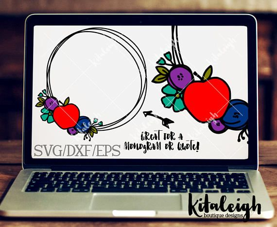 The Floral Teacher Wreath files are for use with programs such as Silhouette Studio Software, Cricut Design Space, or other programs that can read .dxf, .eps, and .svg file types.  If you need a different format, please convo me prior to purchase. THIS IS NOT an Embroidery Design and cannot be converted to Embroidery File types.  ZIP FOLDER: The files are contained in a zip folder. They will need to be unzip/extract the files prior to opening/importing the files into your program. P...