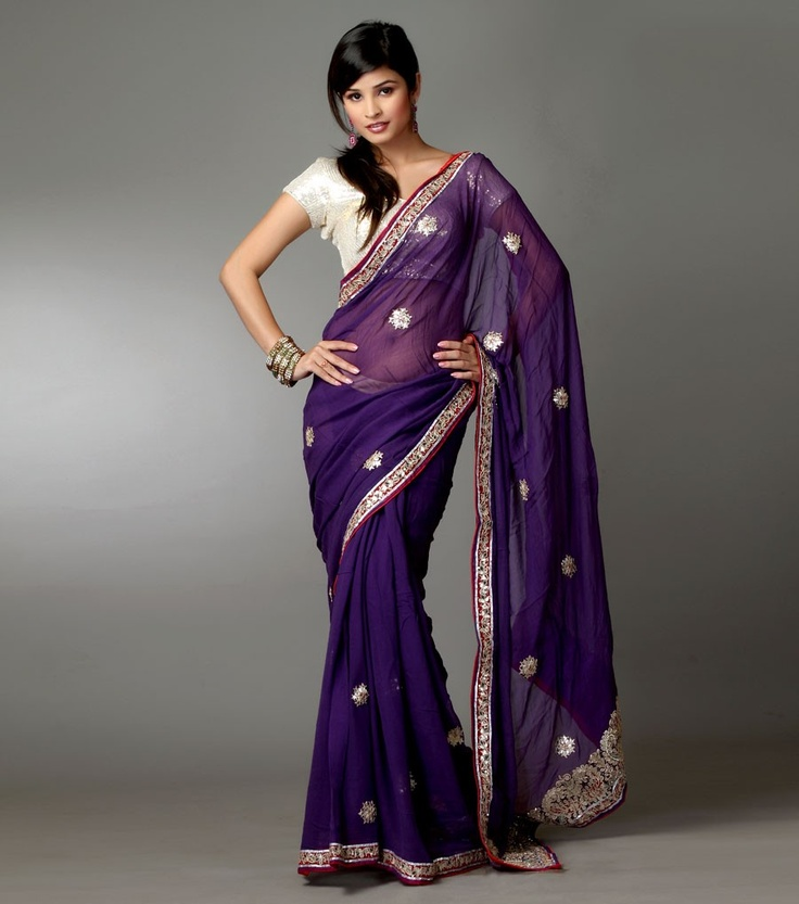 purple white bridesmaid wedding sari