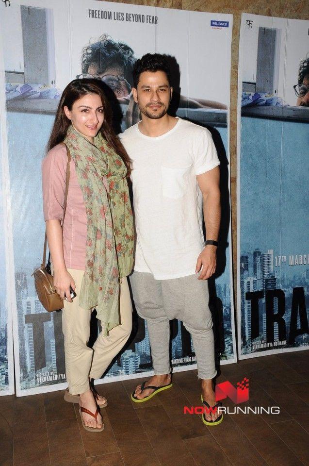 Soha Ali Khan and Kunal Khemu snapped at Rajkumar Rao's screening of 'Trapped'