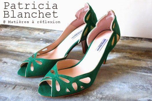 Escarpins verts Patricia Blanchet chaussures d'été Findouce