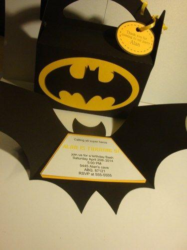 Batman birthday party invitations set of 12-super hero