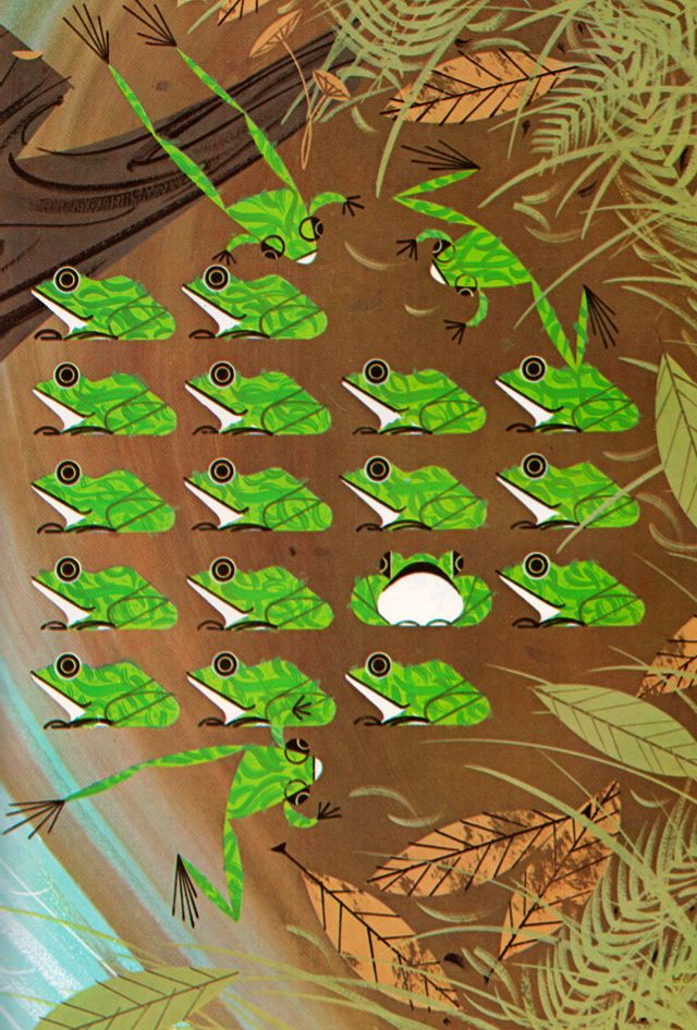 silver hearts by Charley Harper  Piles of Reptiles